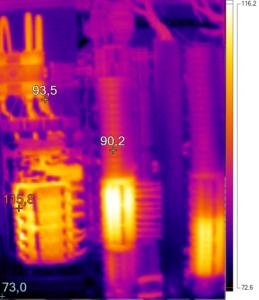 Thermografie einer Unterverteilung