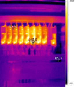 Thermografie mehrerer Frequenzumrichter