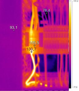 Thermografie einer Klemmleiste