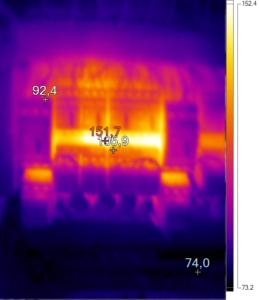 Thermografie mehrerer Schütze
