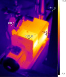 Thermografie eines Vakuumpumpstandes