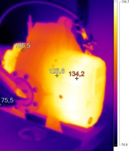 Thermografie einer Vakuumpumpe